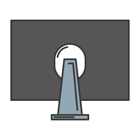 Retour de moniteur icône illustration vectorielle design Banque d'images - 84199866