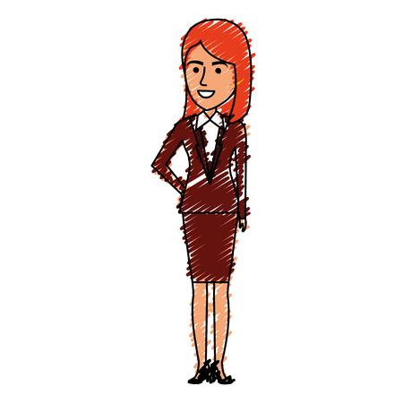Beautiful businesswoman avatar character  illustration design