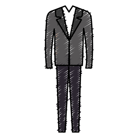 Elegant office suit icon vector illustration design