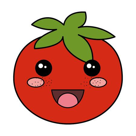 Ontwerp van de het karakter vectorillustratie van de tomaat het verse Stock Illustratie