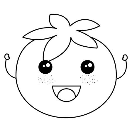 Tomato fresh character vector illustration design Illustration