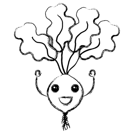 radish fresh  character vector illustration design