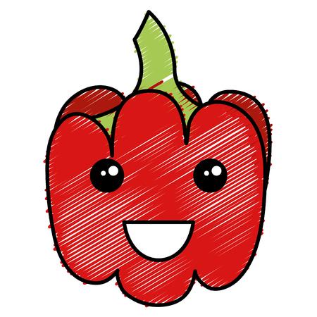 paprika fresh  character vector illustration design