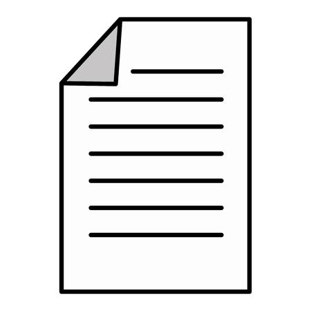 Dokument Papier isoliert Symbol Vektor-Illustration , Design , Standard-Bild - 84253143