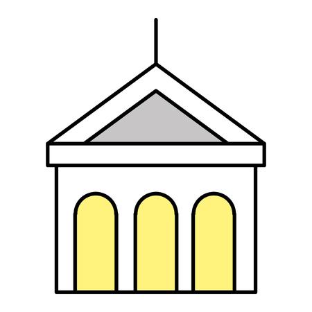 building with columns icon vector illustration design Иллюстрация