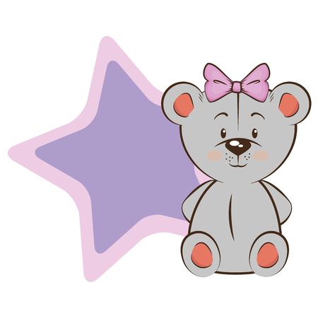 흰색 위에 만화 마우스 동물 아이콘 화려한 디자인 일러스트 레이션 일러스트