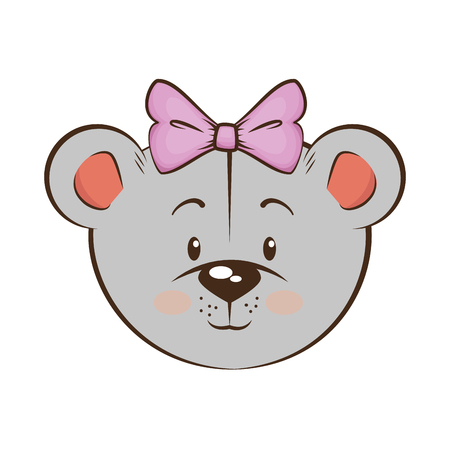 Cartoon mouse animal icon over white background vector illustration