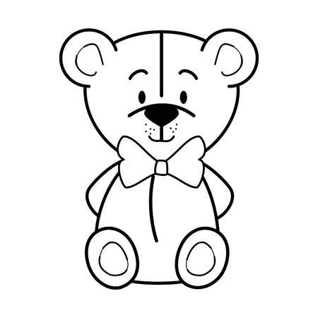 Cartoon bear animal icon over white background colorful design vector illustration
