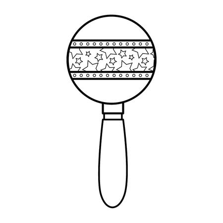白い背景のベクトル図を赤ちゃんのガラガラおもちゃ