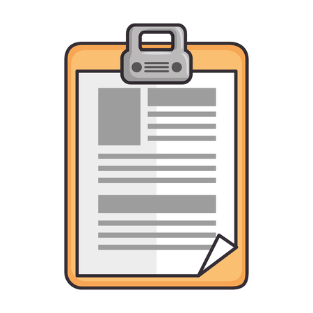 Medical report icon over white background vector illustration