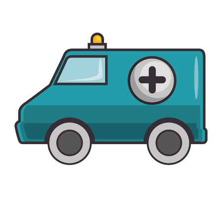 Ambulance icon over white background vector illustration