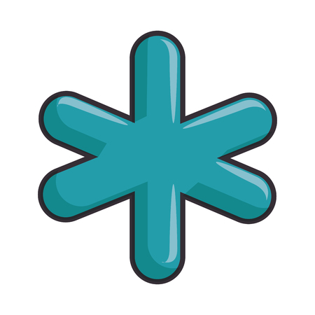 Medical symbol icon over white background vector illustration