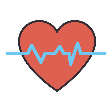 heart monitor: Cardio heart icon over white background vector illustration