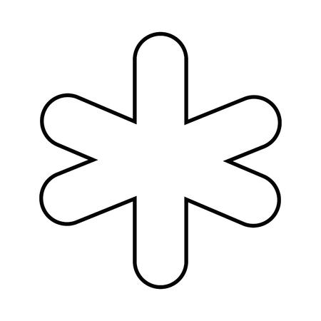 白い背景のベクトル図を医療のシンボル アイコン