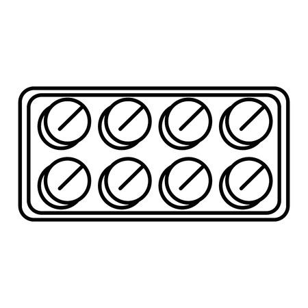 Geneeskunde pillen icoon over witte achtergrond vector illustratie Stockfoto - 84216964
