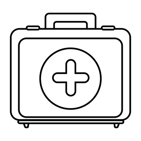 白い背景のベクトル図に応急キット アイコン