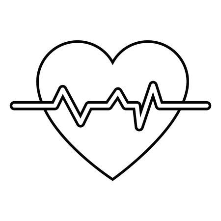 medical doctors: Cardio heart icon over white background vector illustration