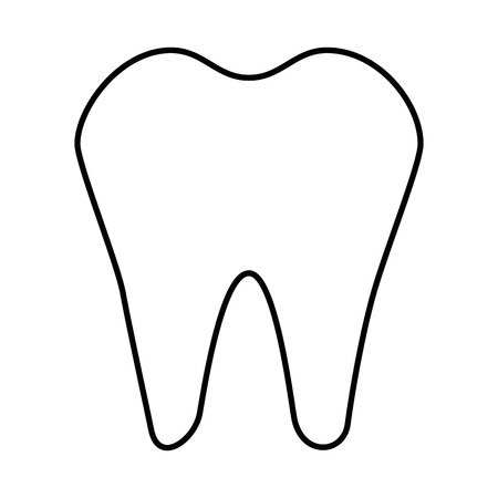 Tooth icon over white background vector illustration Иллюстрация