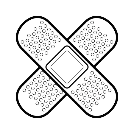 adhesive bandages icon over white background vector illustration