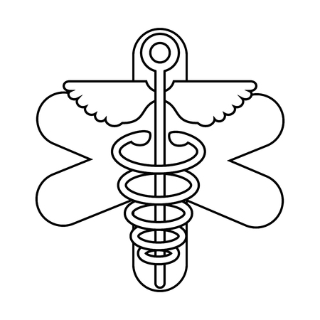 medicine symbol icon over white background vector illustration