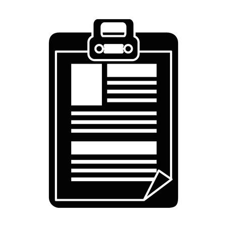 白背景ベクトル イラスト上の医療レポート アイコン  イラスト・ベクター素材