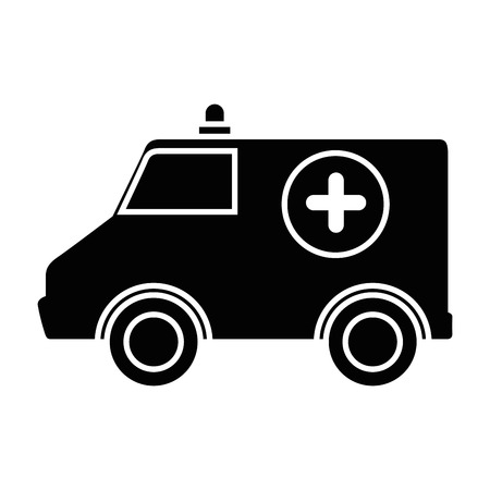 ambulance icon over white background vector illustration Ilustrace