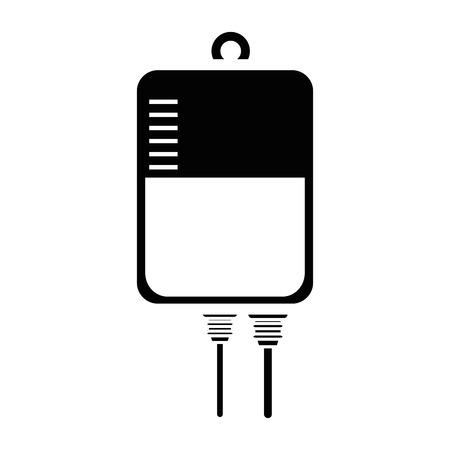 blood bag icon over white background vector illustration