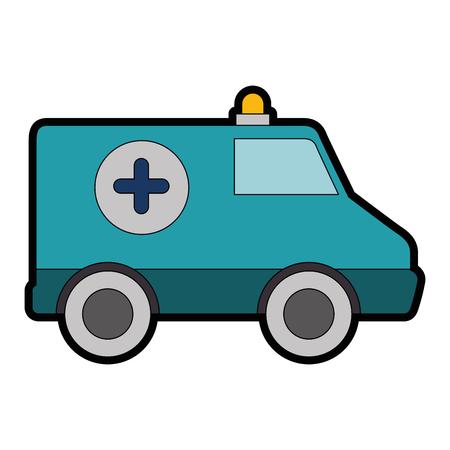 ambulance icon over white background vector illustration Ilustracja