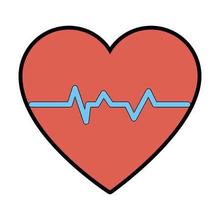 cardio heart icon over white background vector illustration Banco de Imagens - 84225317