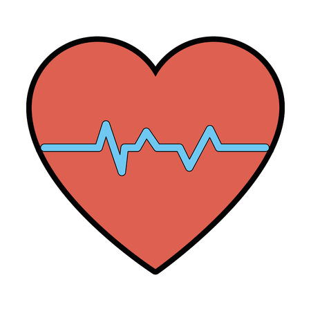 cardio heart icon over white background vector illustration