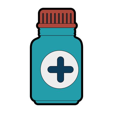 白い背景のベクトル図に薬瓶アイコン