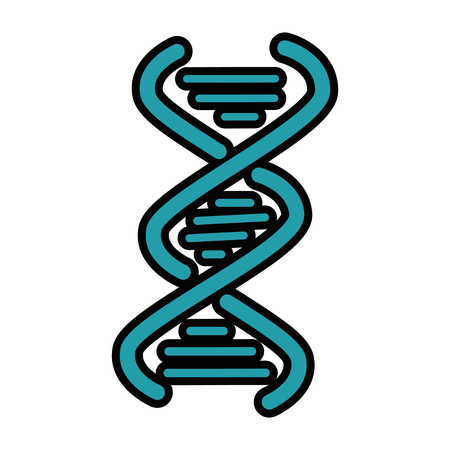 DNA chain icon over white background vector illustration Иллюстрация