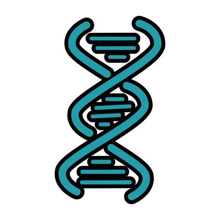 DNA chain icon over white background vector illustration Illustration