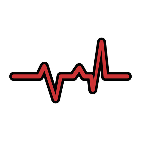 cardio lifeline icon over white background vector illustration
