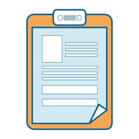 Ikone des medizinischen Berichts über weißer Hintergrundvektorillustration Standard-Bild - 84219237
