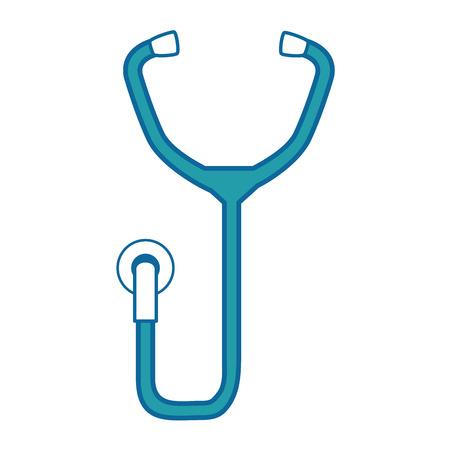 Stethoscope icon over white background vector illustration