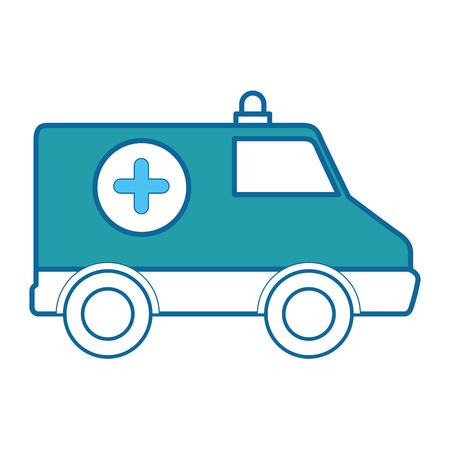 Ziekenwagenpictogram over witte vectorillustratie als achtergrond