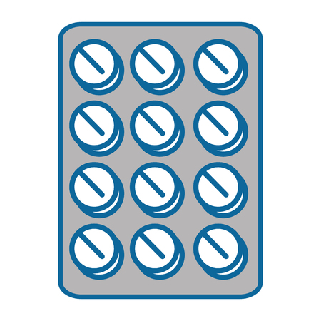 Medicine pills icon over white background vector illustration Ilustracja