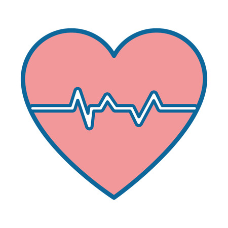 Cardio heart icon over white background vector illustration Banco de Imagens - 84219260