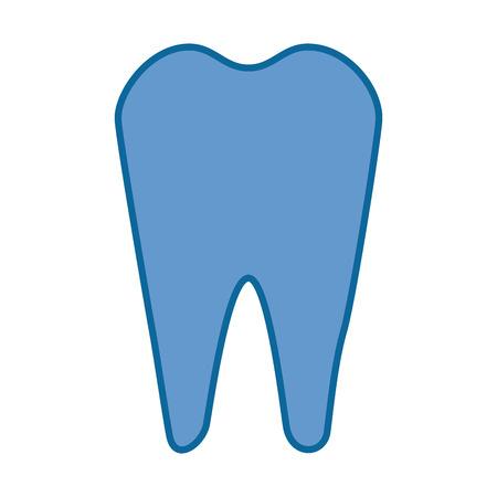 Tooth icon over white background vector illustration Ilustração