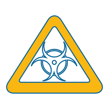 Biohazard sign icon over white background vector illustration