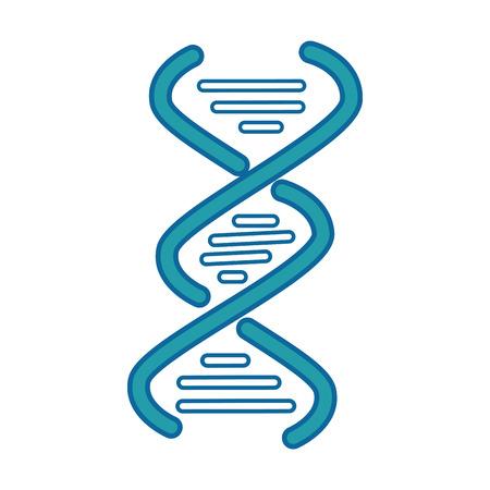白い背景のベクトル図に DNA 鎖アイコン