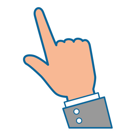hand pointing icon over white background vector illustration