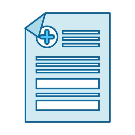 Medical report icon over white background vector illustration Banco de Imagens - 84219464