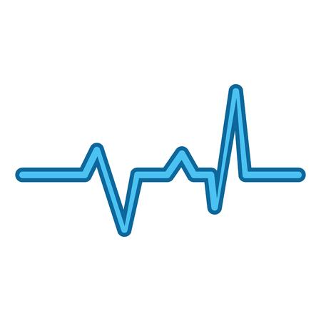 Cardio lifeline icon over white background vector illustration
