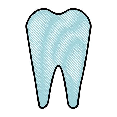 白背景ベクトル イラスト上の歯アイコン  イラスト・ベクター素材