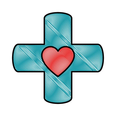 medical symbol icon over white background vector illustration