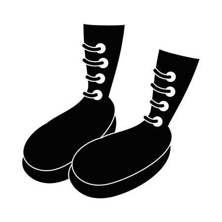 boots icon over white background vector illustration Ilustração