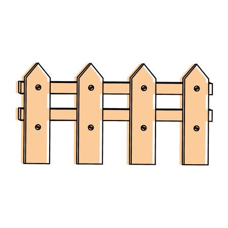 Wooden fence icon. Ilustração