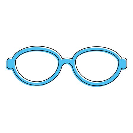 Blauwe glazen accessoire pictogram.